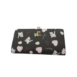 メーカー直送 送料無料 DaisyRico デイジーリコ キャットプリント がま口長財布 黒 猫グッズ ネコグッズ 可愛い かわいい カワイイ 猫雑貨 ネコ雑貨 ねこ 財布