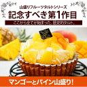 【王様のマンゴー&パインタルト】フルーツたっぷり高級ホテルのタルト!パイナップルとマンゴーがぎっしり!【スイー…