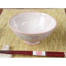 萩焼・紫めし茶碗(大)