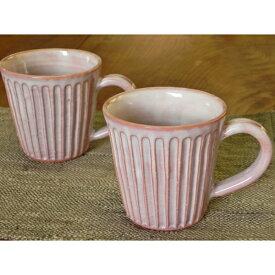 萩焼・紫しのぎマグカップ
