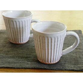 萩焼・藁白しのぎマグカップ