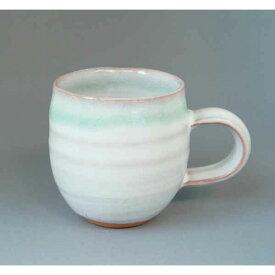 萩焼・マグカップ(白×ブルー)