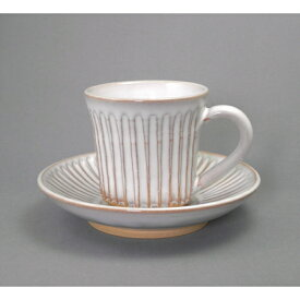 萩焼・白鎬(しのぎ)コーヒーカップ&ソーサー