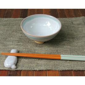 萩焼・めし茶碗(ブルー×ホワイト・大)