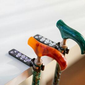 つえ姫オリジナル フラワー柄 杖ホルダー