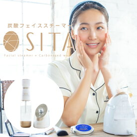 美顔器 [ SITA 炭酸フェイシャルスチーマー ] シータ 美容 美顔機 フェイスケア ヘアケア ソーダ リフトアップ ミスト 加湿