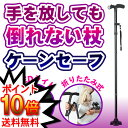 ★送料無料★ ケーンセーフ   自立式の杖が快適なウォーキングをサポート♪高さ5段階調節! 【杖 折りたたみ 軽量 送…