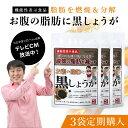 お腹の脂肪に黒しょうが[機能性表示食品]30粒/30日分×3 ブラックジンジャー 黒生姜 黒ショウガ ダイエット サプリメ…