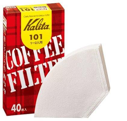 コーヒーフィルター 101濾紙 1〜2人用ホワイト 40枚入り