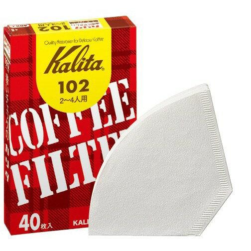 コーヒーフィルター 102濾紙 2〜4人用ホワイト 40枚入り