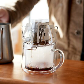 AUX オークス ドリップバッグホルダードリップバッグコーヒー専用 マグカップ2点掛けドリップバッグ対応透過法 愛好者様へホルダー トレー付