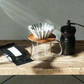 すてきなじかん おうちカフェ スターターセットVol.1 ORIGAMIdripper×Kalita製手挽ミルセット ギフト対応可◎ 送料無料ギフト ドリッパーセット コーヒー豆付 プレゼント おまけつき オリガミ