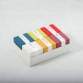 選べる金平糖6個入りギフトセット おしゃれな和紙ハーフ両かぶせ箱 職人が和紙手貼りの貼り箱