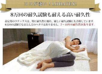 LOHATEX敷きパッド(厚さ2.5cm)マットレスシングル100×200×2.5cm竹繊維カバータイプ