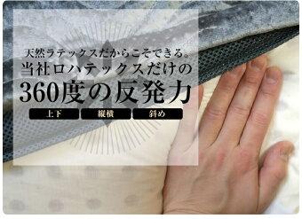 【送料無料】ラテックス高反発枕LOHATEXくつろぎ座布団厚さ7.5cmファスナー付アウトカバー取り外し・洗濯可能60×95×7.5cm