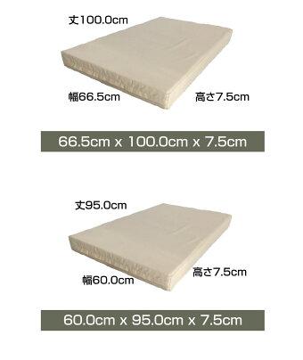 ラテックスLOHATEXくつろぎ座布団厚さ7.5cm66.5×100×7.5cm