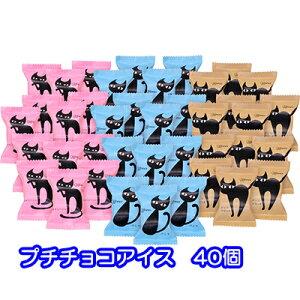 [個人様購入可能]●送料無料 イーペルの 猫 祭り プチ チョコ アイス 40品 一口 アイス ギフト セット 30540