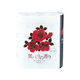 【法人・企業様限定販売】[sss] 四国特紙 黒バラの香り トイレットペーパー 4ロールダブル30m×12パック まとめ買い 00222