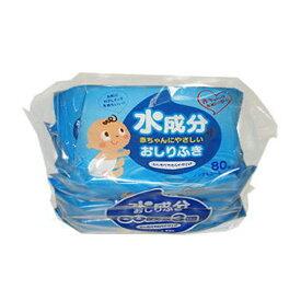 【個人様購入可能】[sss]●代引き不可 昭和紙工 水成分赤ちゃんにやさしいおしりふき80枚 3個パック×12個入 40255