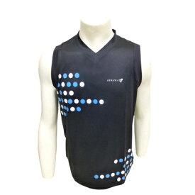 [ マラソン期間限定! ポイント10倍 ]【個人様購入可能】●代引き不可 DOUBLE3 メンズ (Mens)Vネックランニングノースリーブシャツ エキップモデル(DW3288) ブラック サイズ(S〜LL) 50174