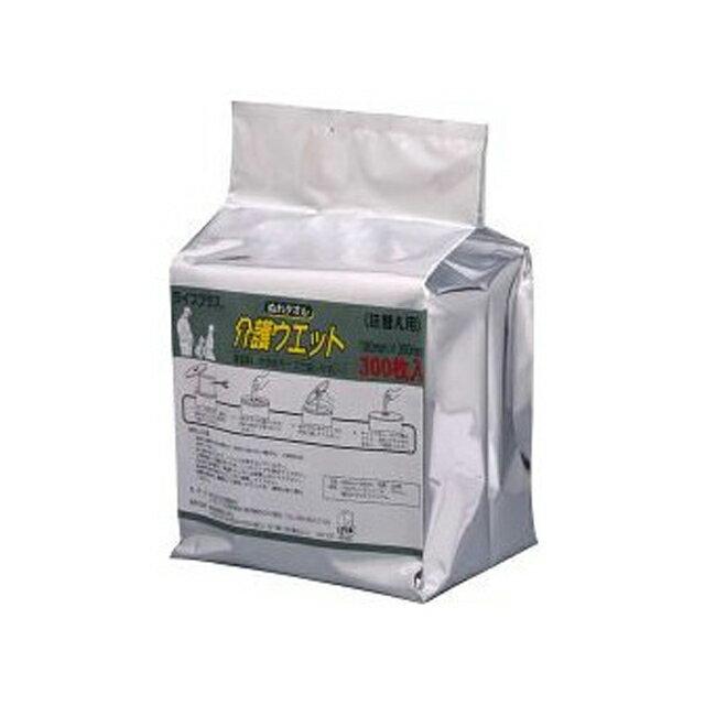 【個人様購入可能】●代引き不可 ライフプラス ぬれタオル介護ウェット バケツタイプ詰換用(300枚入)×4個 61097