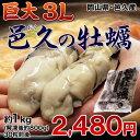 岡山・邑久産 『超巨大カキ(ムキ身)』  3Lサイズ 約1kg(解凍後約800g) ※冷凍 加熱調理用 牡蠣(かき/カキ) sea ☆