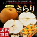 《送料無料》栃木県産 「きらり梨」 6〜12玉 約5キロ ※冷蔵 frt ☆
