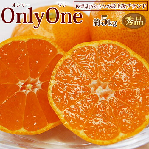 みかん 送料無料 佐賀県産みかん Only One うわばの夢 秀品 S〜2S 約5kg JAからつ オンリーワン