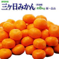 《送料無料》静岡産三ヶ日みかん(青島種)3〜4Lサイズ約8kgfrt☆