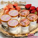 アイス 氷菓 苺 イチゴ 『生いちごジェラート』 白いちご・さがほのか 2種 各3個 合計6個セット 1個:110ml 冷凍 送料…