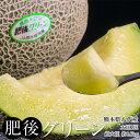 熊本県八代産 超大玉メロン 肥後グリーン 1玉 約1.6kg 常温 送料無料