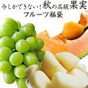 送料無料秋の果物3種福袋(シャインマスカット、大玉梨、らいでん赤肉メロン)合計約3.1kg