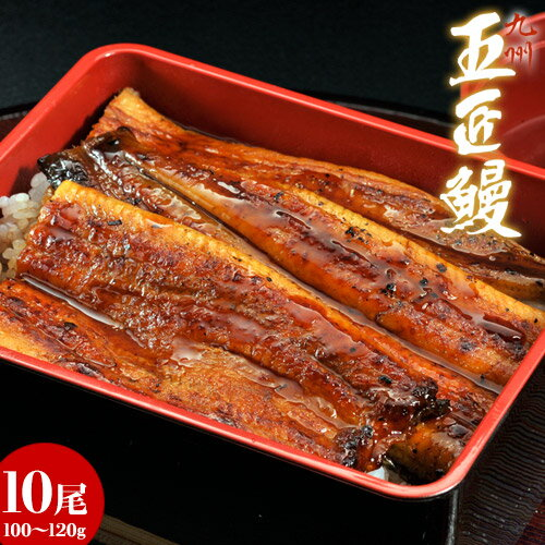 《送料無料》鹿児島産 うなぎ蒲焼 「五匠鰻」約120g×10尾 ※冷凍 sea ☆