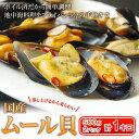 イタリアン・地中海料理の王道!国産ムール貝  たっぷり1キロ 約500g×2パック 宮城県産 sea