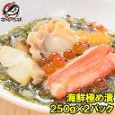 【送料無料】海鮮極め漬 500g 250g×2 約4人前 【海宝漬け 海宝漬 三陸海宝漬 海鮮丼 海鮮爆弾 海鮮惣菜 ほたて いく…