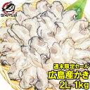 【週末限定セール】広島産 牡蠣 1kg 大粒 牡蠣 むき身 2Lサイズ 殻剥き不要&小さくなりにくい加熱用で濃厚な風味!【…