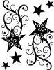 タトゥーシール流れ星2【黒】