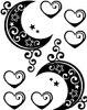 タトゥーシール月【黒】