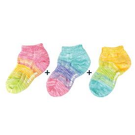 靴下 キッズ stample スタンプル レインボーアンクルソックス 3足組 靴下 履きやすい 滑り止め 靴下 15cm すべり止め キッズ おしゃれ かわいい 子供用 こども 子ども くるぶし 女の子 男の子 保育園 幼稚園 アンクルソックス 71755 夏