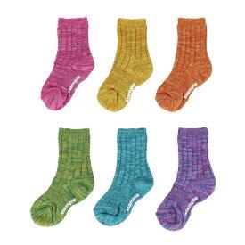 stample スタンプル メニーカラーリブ クルーソックス 子供 こども ソックス 靴下 キッズ くつ下 通園 通学 シンプル 履きやすい 脱ぎやすい 1足