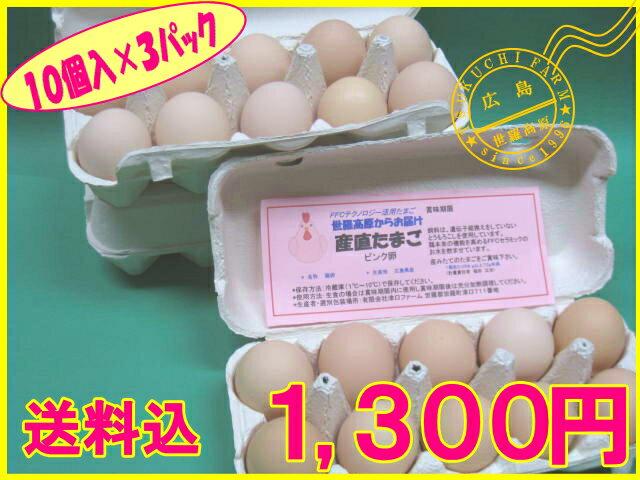 【送料込】産直たまご 10個×3パック