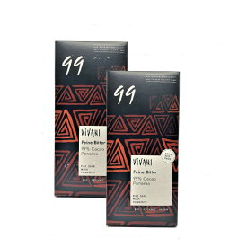 VIVANI ヴィヴァーニ オーガニックダークチョコレート 99%80g×2個セット 送料無料