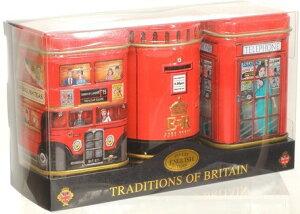 ニューイングリッシュティー トラディショナル オブ ブリテン 紅茶詰め合わせ 3缶パック  缶入り紅茶イギリス 英国 送料無料 スイーツギフト 母の日 プレゼント 2021