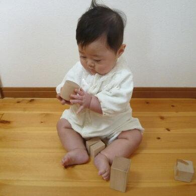 【つみ木堂】「引き車白木一段」積み木,日本製,国産,出産祝い,クリスマスプレゼント,お祝い,初節句,誕生祝い,1歳・2歳・3歳のお誕生日プレゼントに(木のおもちゃ、つみき、積木、知育玩具)