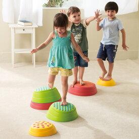 スポーツ遊具 石飛び遊びで遊びながらバランス感覚が養える レインボーバランスストーン 6個組
