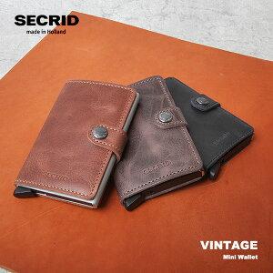 SECRID セクリッド ミニウォレット Mini Wallet Vintage ヴィンテージ 財布 カードケース スキミング防止 マネークリップ キャッシュレス 旅行 機内バッグ ビジネス メンズ おしゃれ 防水 ツナグテ