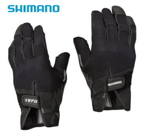 シマノ ゼフォー (XEFO) 1.5mmクロロプレンEXS 3カットロンググローブ GL-279P ブラック Lサイズ (S01) (メール便可)
