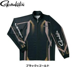 がまかつ フルジップトーナメントシャツ GM-3569 ブラック×ゴールド 3Lサイズ / ウエア 【送料無料】 / (お取り寄せ商品) 【セール対象商品】