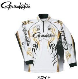 がまかつ 2WAYプリントジップシャツ(長袖)GM-3531 ホワイト LLサイズ / ウエア 【送料無料】 / (お取り寄せ商品) (セール対象商品)