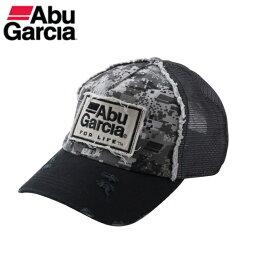 アブガルシア デジタルカモ ダメージメッシュキャップ ブラック / 帽子